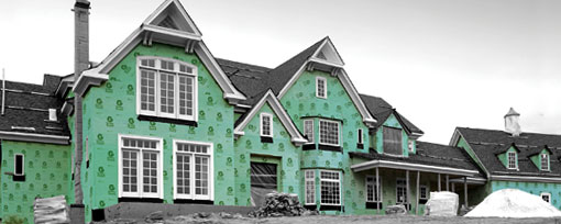 House wrap, Green Guard, Tyvek, Moisture Barrier, Moisture