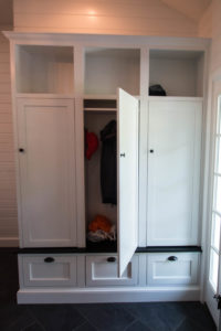 custom built storage Locker open
