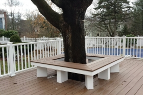 Custom Bench Around Tree, Walpole